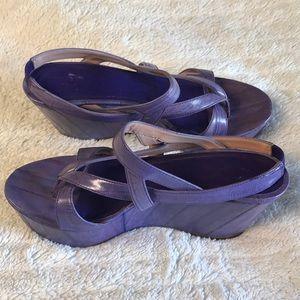 DEREK LAM  Leather Slingback Wedge AKIKO sandal